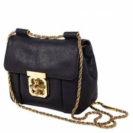 Chloe Black Leather Elsie Shoulder Bag