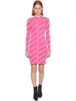 Трикотажное Платье С Принтом Balenciaga 70I5CI048-NjU3Mw2