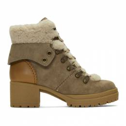 See By Chloe Taupe Eileen Heeled Boots SB31121A 10150