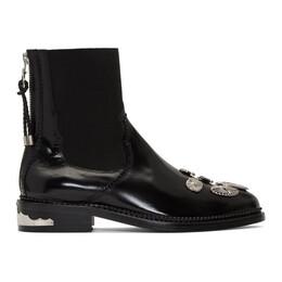 Toga Pulla Black Hardware Boots AJ990 Polido