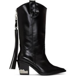 Toga Pulla Black Cowboy Boots AJ1009
