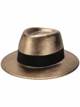 Saint Laurent шляпа-трилби с эффектом металлик 5937463YD21