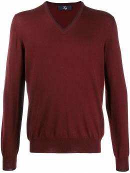 Fay пуловер с нашивками на локтях NMMC1392300FDSU774