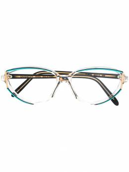 Givenchy Pre-Owned очки в овальной оправе 1990-х годов GIVE150B