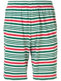 Undercover полосатые шорты с эластичным поясом UCMSU001