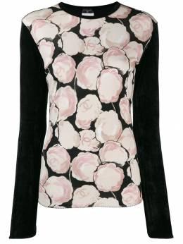Chanel Pre-Owned блузка с принтом Camellia 130468
