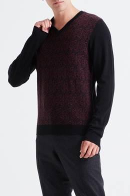 Черный пуловер с узорами Pal Zileri Lab 3013148880