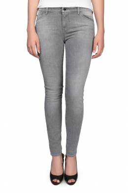 Облегающие серые джинсы Armani Jeans 1742149047