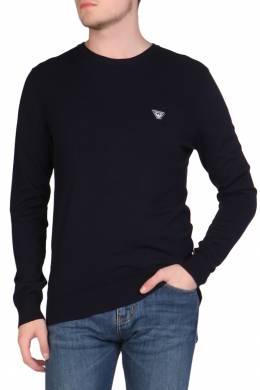 Синий лонгслив с логотипом Armani Jeans 1742149187