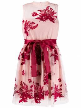 Red Valentino платье из тюля с вышивкой SR0VA05B4KM