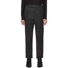 Saint Laurent Black and Grey Tweed Trousers 563592Y017V