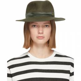 Maison Michel Green Felt Derek Hat 1103006001