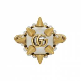 Gucci Gold Studded Pearl Ring 582608 I4620