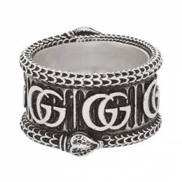 Gucci Silver GG Marmont Ring 577201 J8400