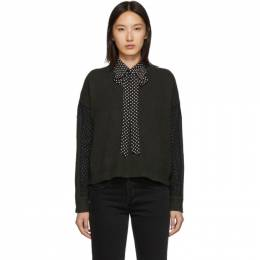 MCQ by Alexander McQueen Green Cropped Jumper 558918RNK46