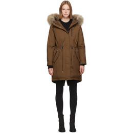 Mackage SSENSE Exclusive Tan Down Rena Coat RENA-DR