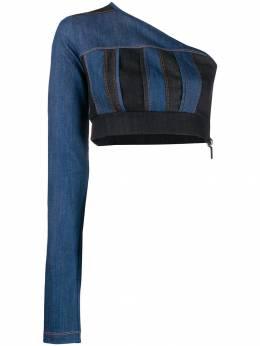 No Ka' Oi джинсовый свитер на одно плечо P3CTPNOKW71277A0