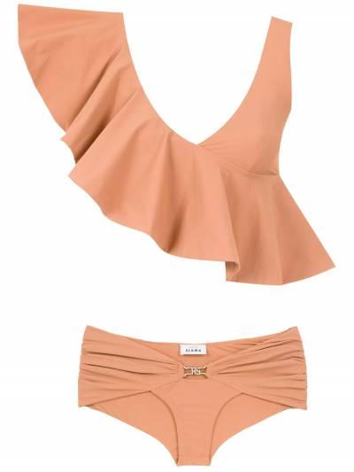 Amir Slama ruffled top bikini set 10496 - 1