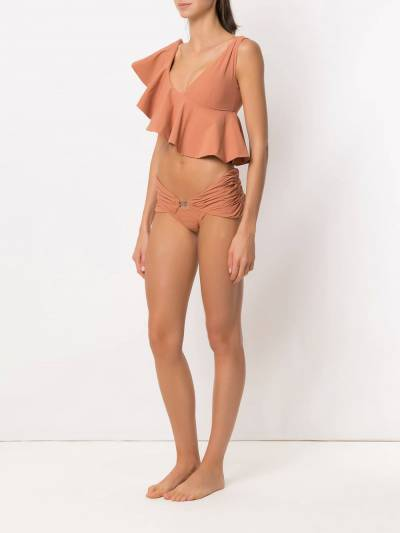 Amir Slama ruffled top bikini set 10496 - 2