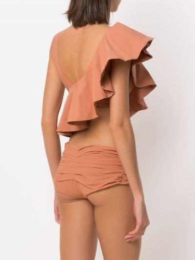 Amir Slama ruffled top bikini set 10496 - 3