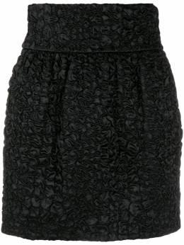 Saint Laurent фактурная юбка мини 588218Y733V