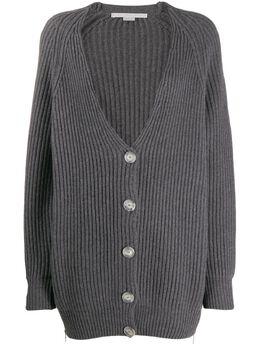 Stella McCartney кардиган фактурной вязки с V-образным вырезом 574962S2086