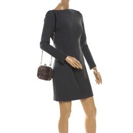Bally Brown Sequins Embellished Clutch Bag 216933