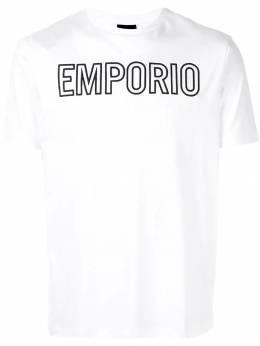Emporio Armani футболка с вышитым логотипом 6G1TG91JPRZ