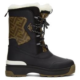 Fendi Black Ski Boots 8U6964 A8C6