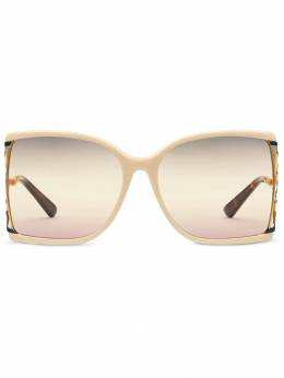 Gucci Eyewear солнцезащитные очки в массивной оправе 584409J0742