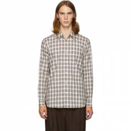 Tibi SSENSE Exclusive White and Multicolor Check Kingtson Shirt F119KS7417