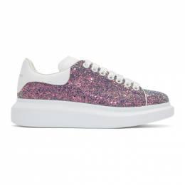 Alexander McQueen Multicolor Shell Glitter Oversized Sneakers 558944W4JG1
