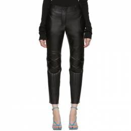 Bottega Veneta Black Leather Biker Trousers 595073 VKEB0
