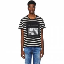 R13 Black and White Striped Joy Division Boy T-Shirt R13W3951-17