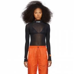 Heron Preston Black Style Mock Neck Bodysuit HWDD004E197370030401
