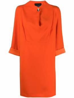 Erika Cavallini платье-трапеция с драпировкой E9AV01