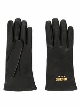 Moschino перчатки с логотипом 65145M1888