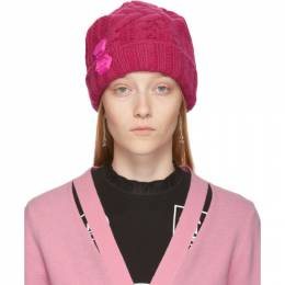 Off-White Pink Knit Pop Color Beanie OWLA008F19A280502800