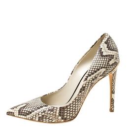 Louis Vuitton Python Eyeline Pointed Toe Pumps Size 37 222183