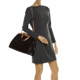 Louis Vuitton Amarante Monogram Vernis Brea GM Bag 218148
