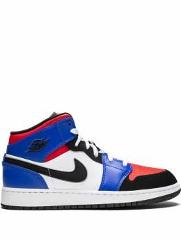 Nike Kids высокие кроссовки Air Jordan 1 Mid (GS) 554725124