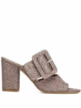 Paris Texas glitter buckled mules PX108GGLITTER