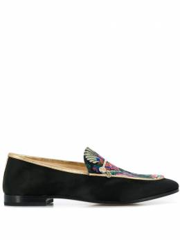 Fabi floral embroidered loafers FD5331ZC2