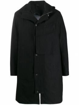 Masnada пальто в полоску с капюшоном M2325