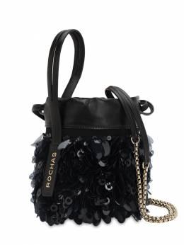 Sequined Leather Bucket Bag Rochas 70IWYG004-MDAx0