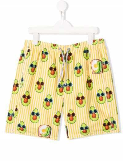 Mc2 Saint Barth Kids плавки-шорты с принтом Avacado Toast JEAN - 1