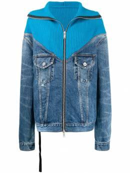 Unravel Project джинсовая куртка со вставками в рубчик UWYE013E193220067100