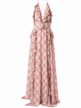 Jonathan Simkhai платье со складками и оборками 3191009M