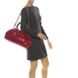 Marc Jacobs Red Quilted Leather Stam Shoulder Bag 221081