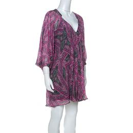 Diane Von Furstenberg Pink Printed Silk Fleurette Short Dress XS 221859